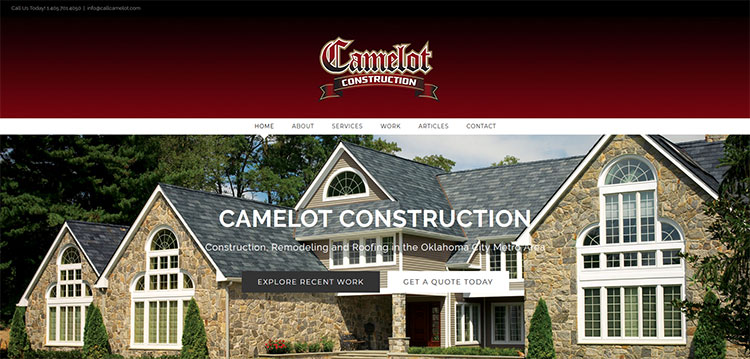 Camelot Construction Website